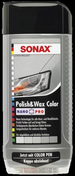 SONAX Polish & Wax Color NanoPro silber/grau