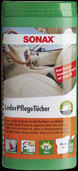 SONAX LederPflegeTücher Box