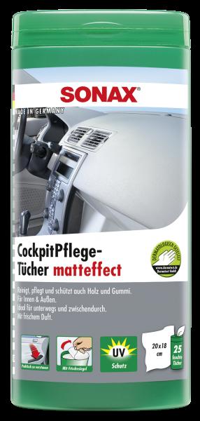 SONAX CockpitPflegeTücher matteffect Box