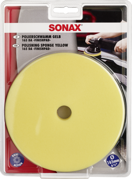 SONAX PolierSchwamm gelb 165 DA -FinishPad-