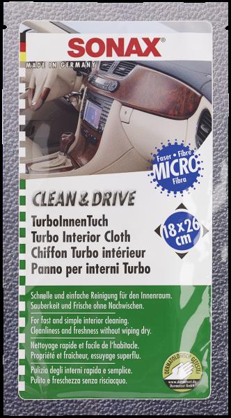 SONAX Clean&Drive TurboInnenTuch 18x26 Thekendisplay