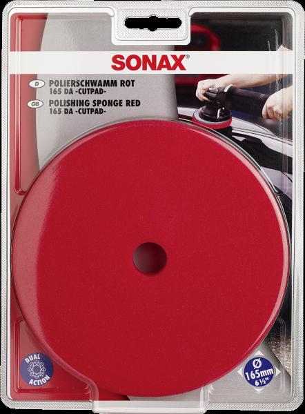 SONAX PolierSchwamm rot 165 DA -CutPad-