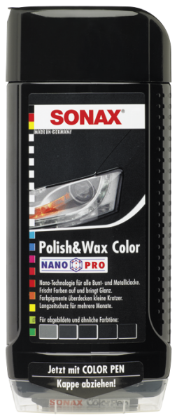 SONAX Polish & Wax Color NanoPro schwarz